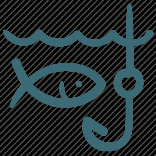 doodle, fish, fishing, parks, travel icon