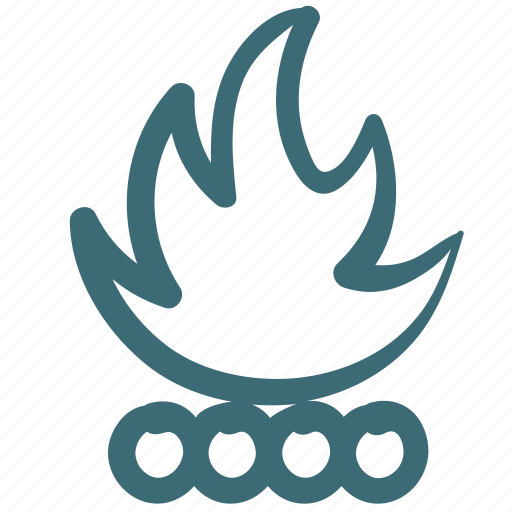 camp, campfire, camping, fire, wood icon