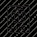 documents, id card, international passport, legal document, pass, passport, visa