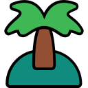 beach, filled, island, travel, tropical icon