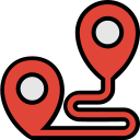 destination, direction, filled, location, search, travel icon