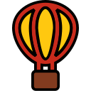 air, ballon, balloon, filled, holiday, travel icon