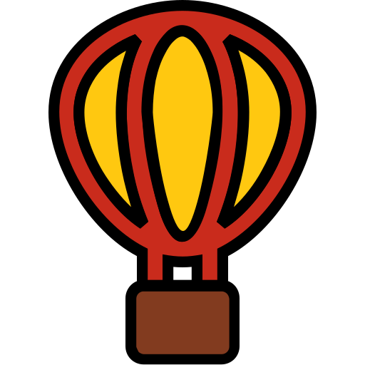 air, ballon, balloon, filled, holiday, travel icon