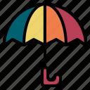 travel, umbrella, rain, protection, insurance