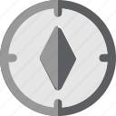 adventure, compass, flat, journey, object, travel icon