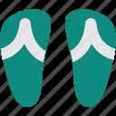 beach, flat, flip flops, summer, travel, vacation icon