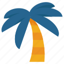summer, travel, palm, vacation, tree