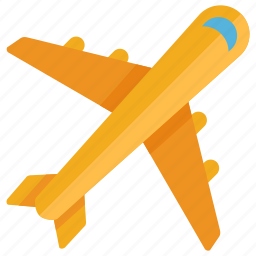 airline, airplane, flight, fly, plane, shipping, vacation icon