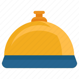 bell, hotel, lobby, reception, ring, service icon