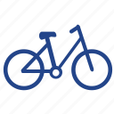 bicycle, bike, cycle, launch, parking, testing, travel icon