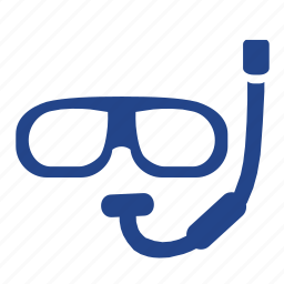 dive, diver, diving, fish, glasses, hobby, mask, ocean, recreation, sea, snorkel, swim icon