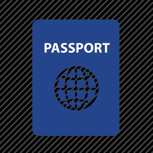 document, id, identification, identity, pass, passport, travel icon
