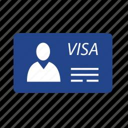 id, identity, travel, travel id, travel permit, visa, visitor icon