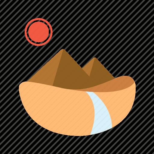 desert, pyramids, rural, scenery, wasteland icon