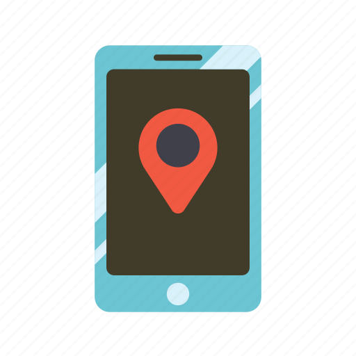 geography, gps, location, pin, smartphone, technology, touch screen icon