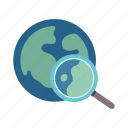 worldwide, search, maps and flags, global, global search, magnifying glass, geography icon