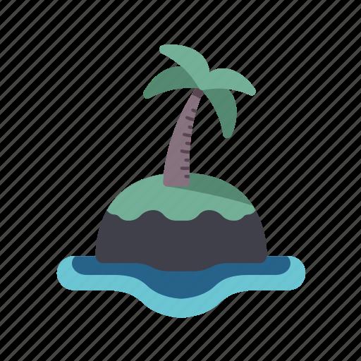 island, isolation, nature, palm tree, tropical icon