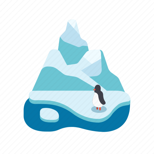 ice path, nature, penguin, pole, south, south pole, wildlife icon