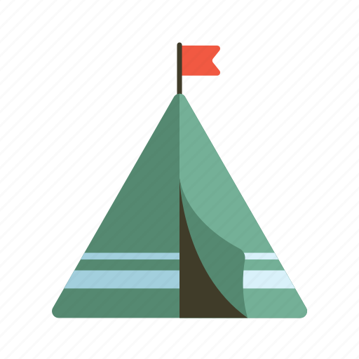camping, shelter, tent, tipi, vacation icon
