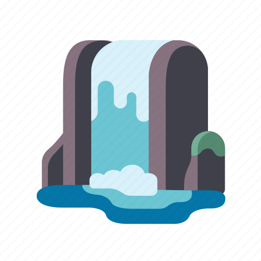 cascade, landscape, nature, scenery, waterfall icon