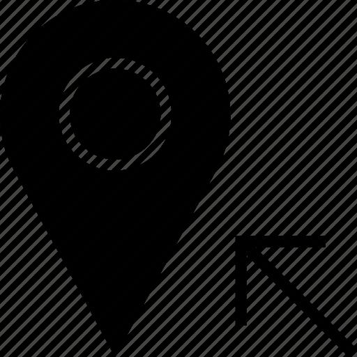 arrow, location, point icon