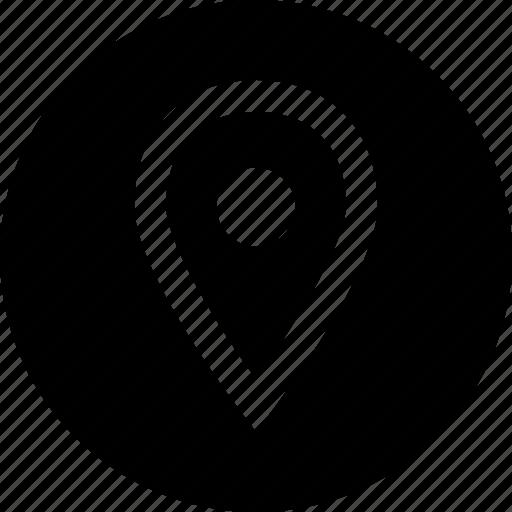 gps, point, single icon