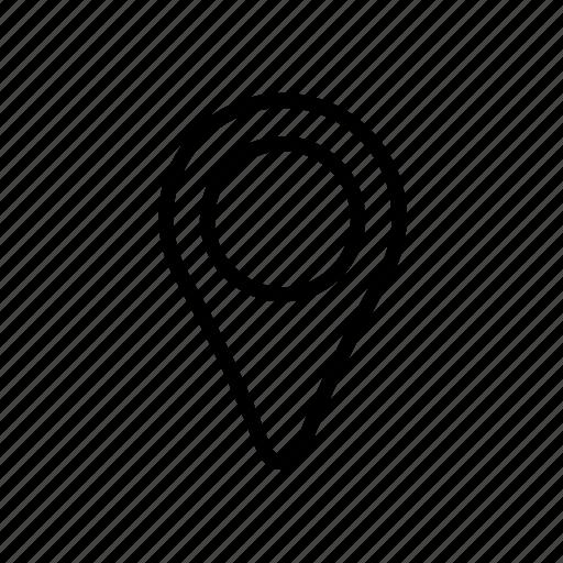 gps, landmark, location, marker, navigate, pin, travel icon