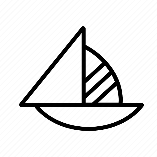 boat, sail, sailboat, sailing, transport, travel icon