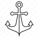 anchor, boat, marine, nautical, ocean, sea, ship icon