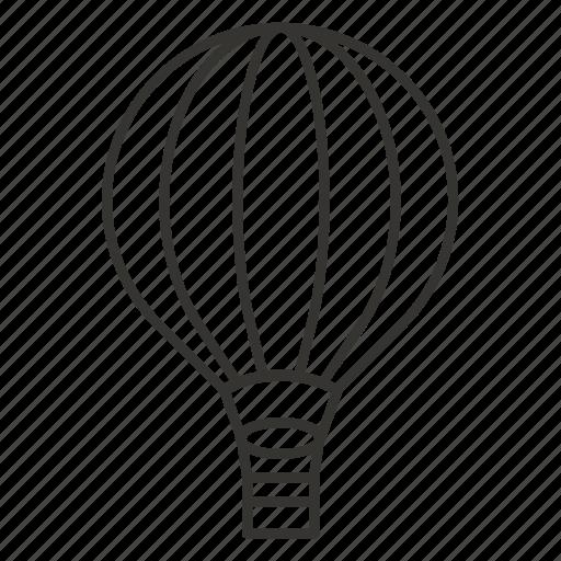 air balloon, airplane, flight, plane, travel icon