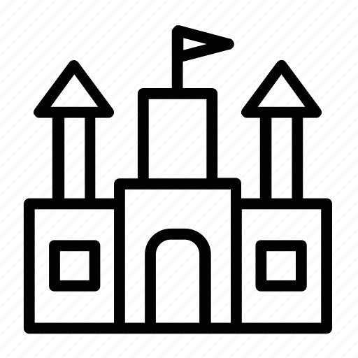 building, castle, landmark, princess, sight icon
