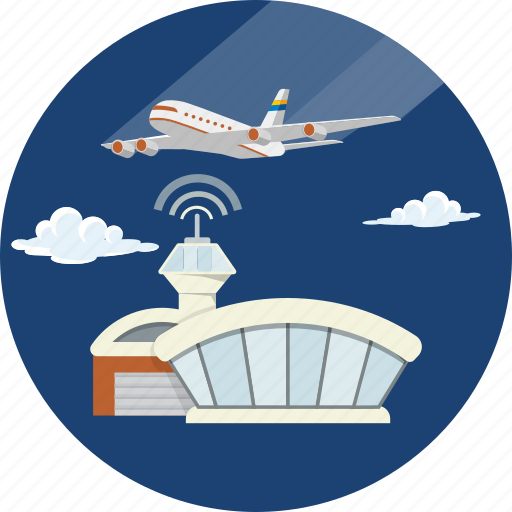 airline, airport, plane, terminal, tower, transportation, travel icon