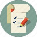 checklist, file, list, note book, pen, pencil, to do list icon