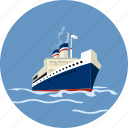 boat, cruise, marine, nautical, ship, transport icon