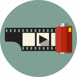 cinema, film, movie, play, roll, seamless icon