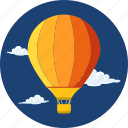adventure, air, bag, baloon, basket, hot air baloon, travel icon