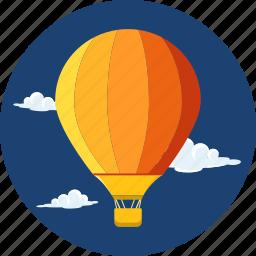 adventure, air, bag, baloon, basket, hot air baloon, travel icon