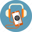 audio, call, headphone, mobile, play, sound, speaker icon