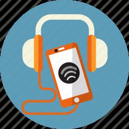 audio, call, headphone, mobile, play, sound, speaker icon