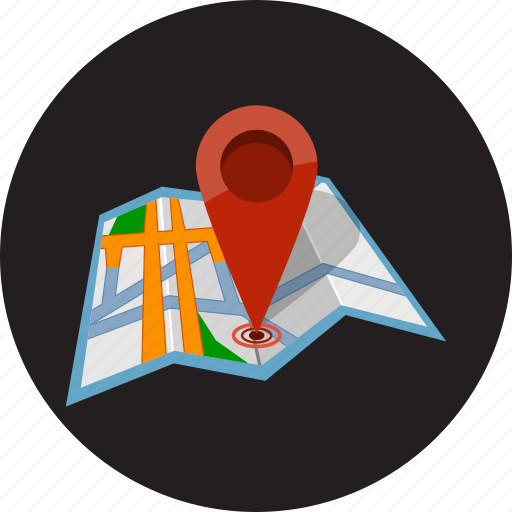 direction, location, map, pointer, road, searching, street icon