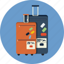 baggage, briefcase, career, case, holiday, tourism, travel icon