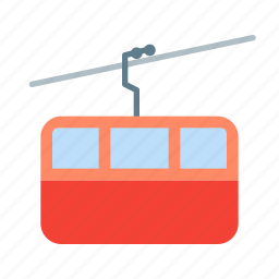 cable, car, transport, transportation icon
