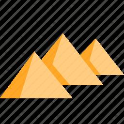 egypt, egyptian, pharaoh, pyramid, pyramids, triangle icon