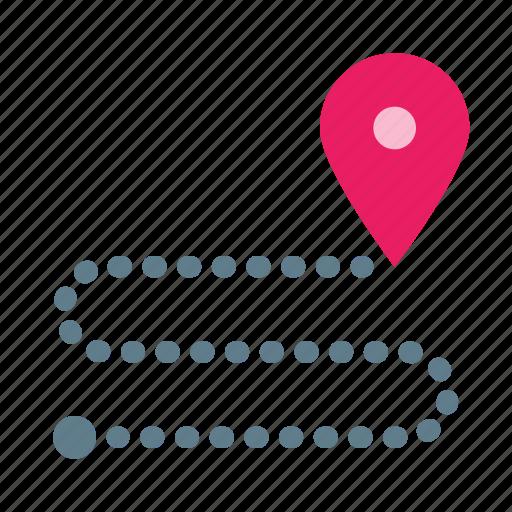 destination, direction, navigation, routing icon