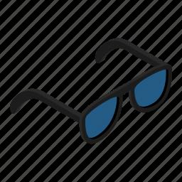 clothing, isometric, print, shutter, specs, sunglasses, tropical icon