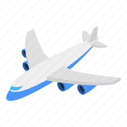 air, aircraft, flight, fly, isometric, plane, travel icon