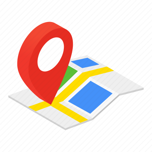 Colored, gps, isometric, location, map, marker, pin icon - Download on Iconfinder