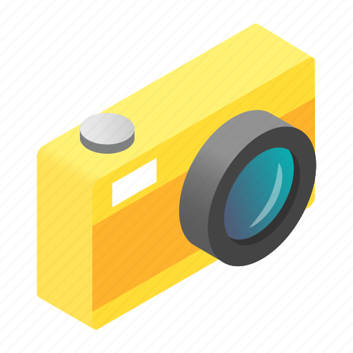 camera, digital, isometric, lens, modern, photo, photography icon