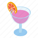 club, cocktail, coctail, cold, decoration, isometric, liquid