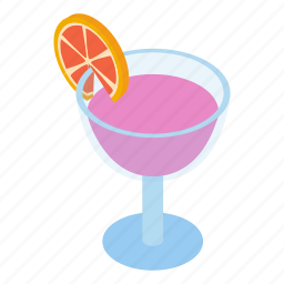 club, cocktail, coctail, cold, decoration, isometric, liquid icon